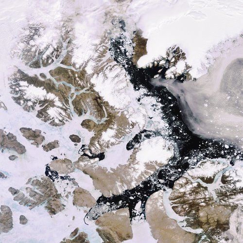 Summer ice in the Arctic
