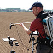 Taking hyperspectral measurements over bare soil