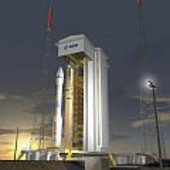 Vega on launch pad (artist's impression)