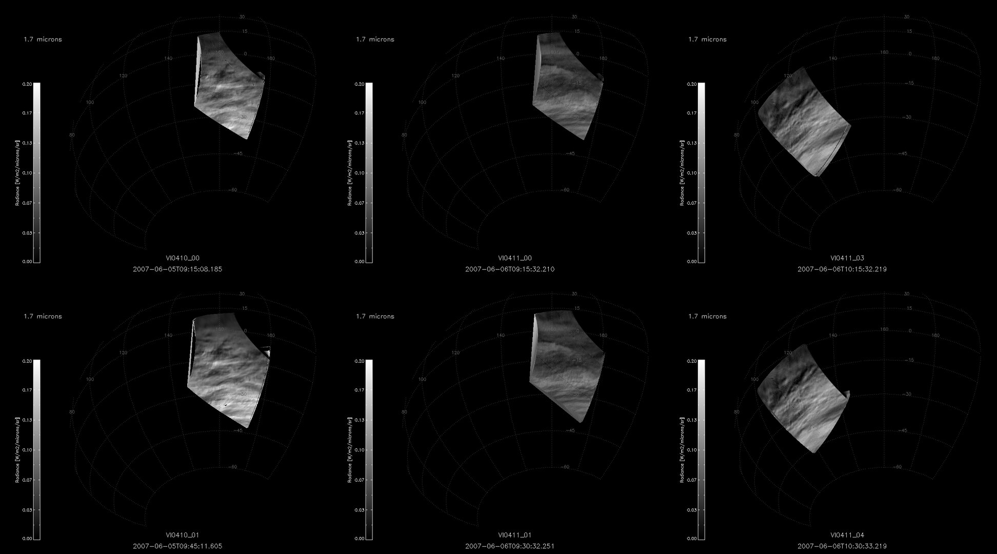 VIRTIS images of the clouds that MESSENGER flew over