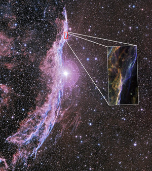 A hightened section of the Witch's Broom Nebula