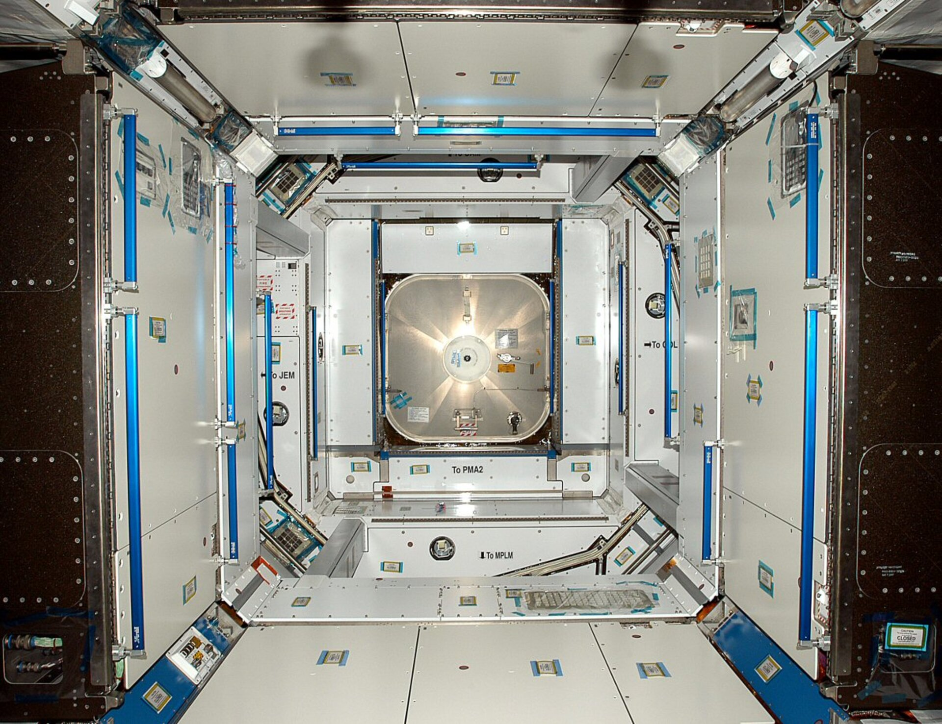 A view inside the European-built Node 2