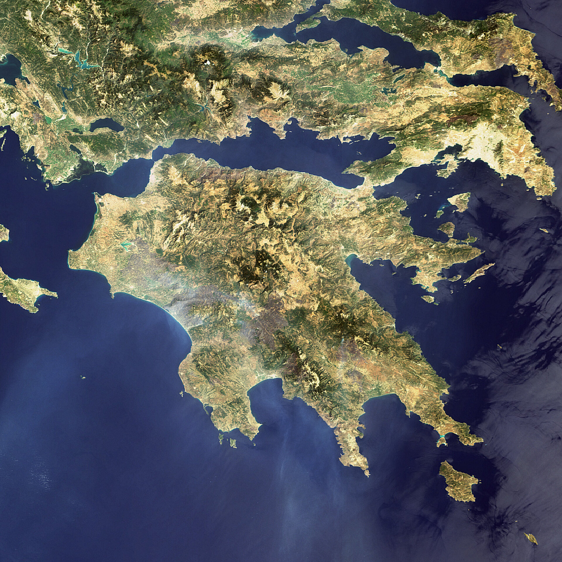 Aftermath of Greek fires