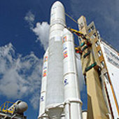 Ariane 5 ECA V177 waits on the launch pad