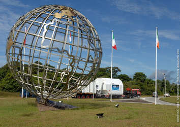 ATV arrives at Europe's Spaceport in Kourou, French Guiana