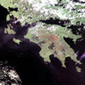 Burnt areas in Greece