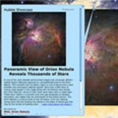 Detailed description of the Hubble Orion Nebula Image