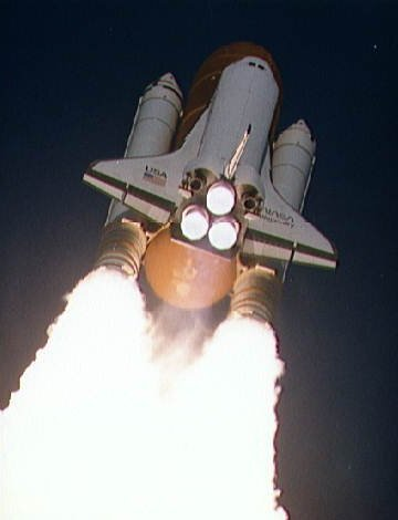 Discovery STS-41 launch 6 Oct 1990