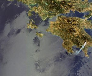 Fires starting in Greece on 23 August 2007