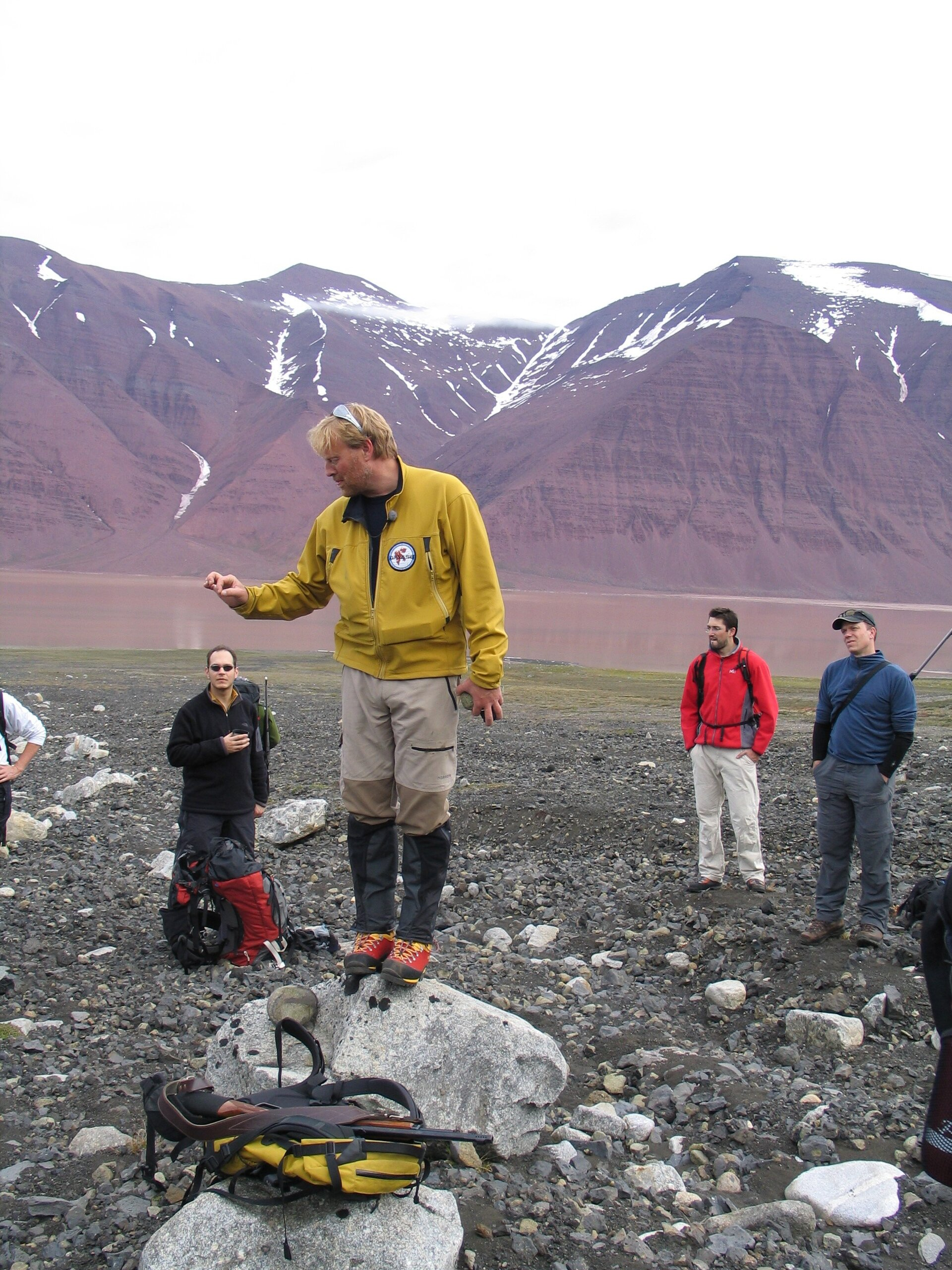 Geology 'lecture' given by our expedition leader, Hans Amundsen