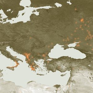 Hot spots across Southeastern Europe