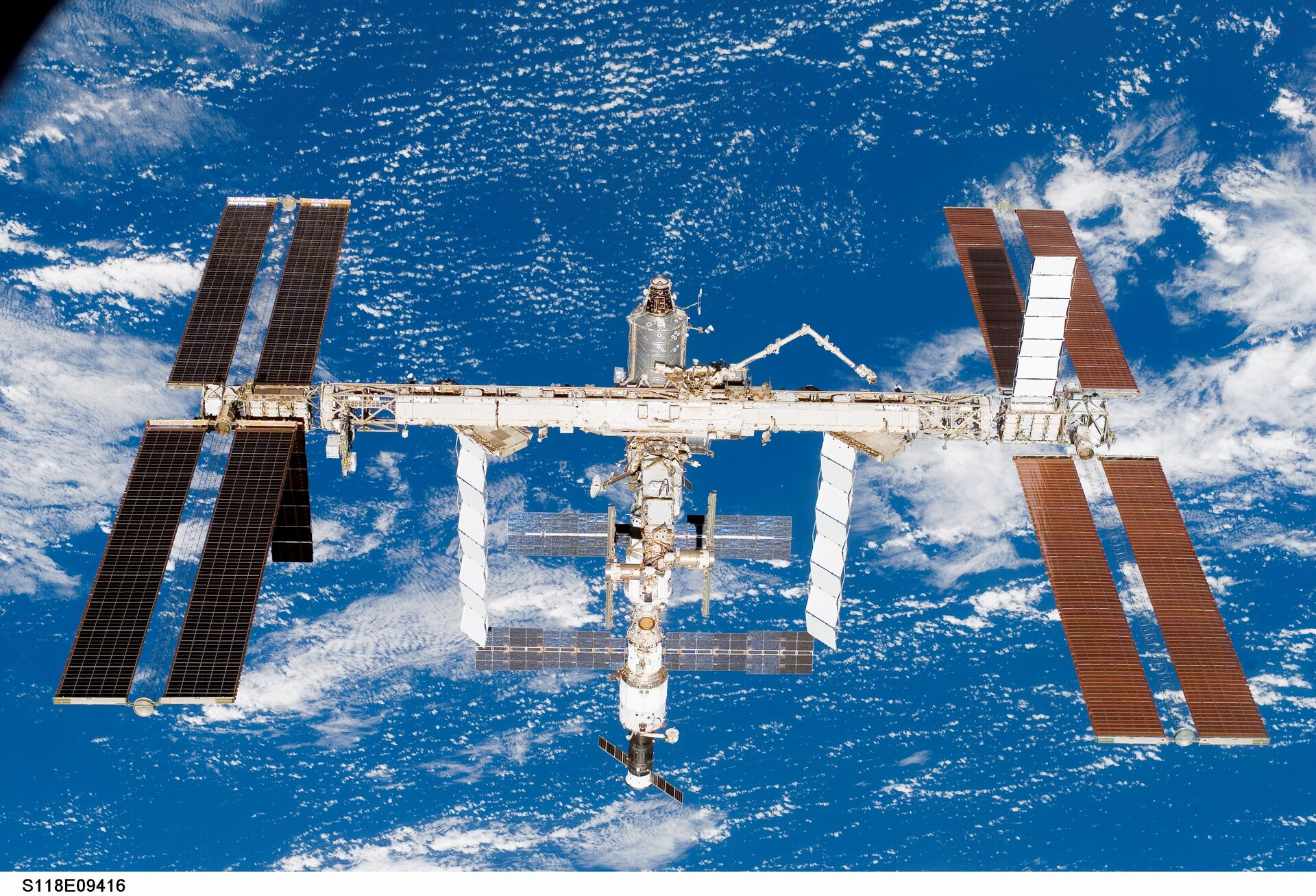 ISS configuration as of 19 August 2007