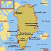 Map of Arctic area where Svalbard is located