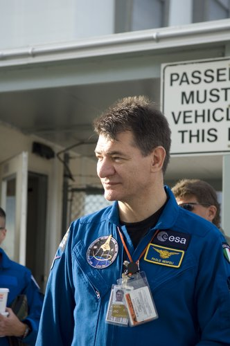 Paolo Nespoli during the STS-120 CEIT at NASA's Kennedy Space Center, 3 August 2007