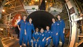 STS-120 crew during CEIT