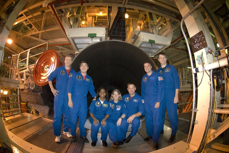 STS-120 crew during CEIT at NASA's Kennedy Space Center, Florida