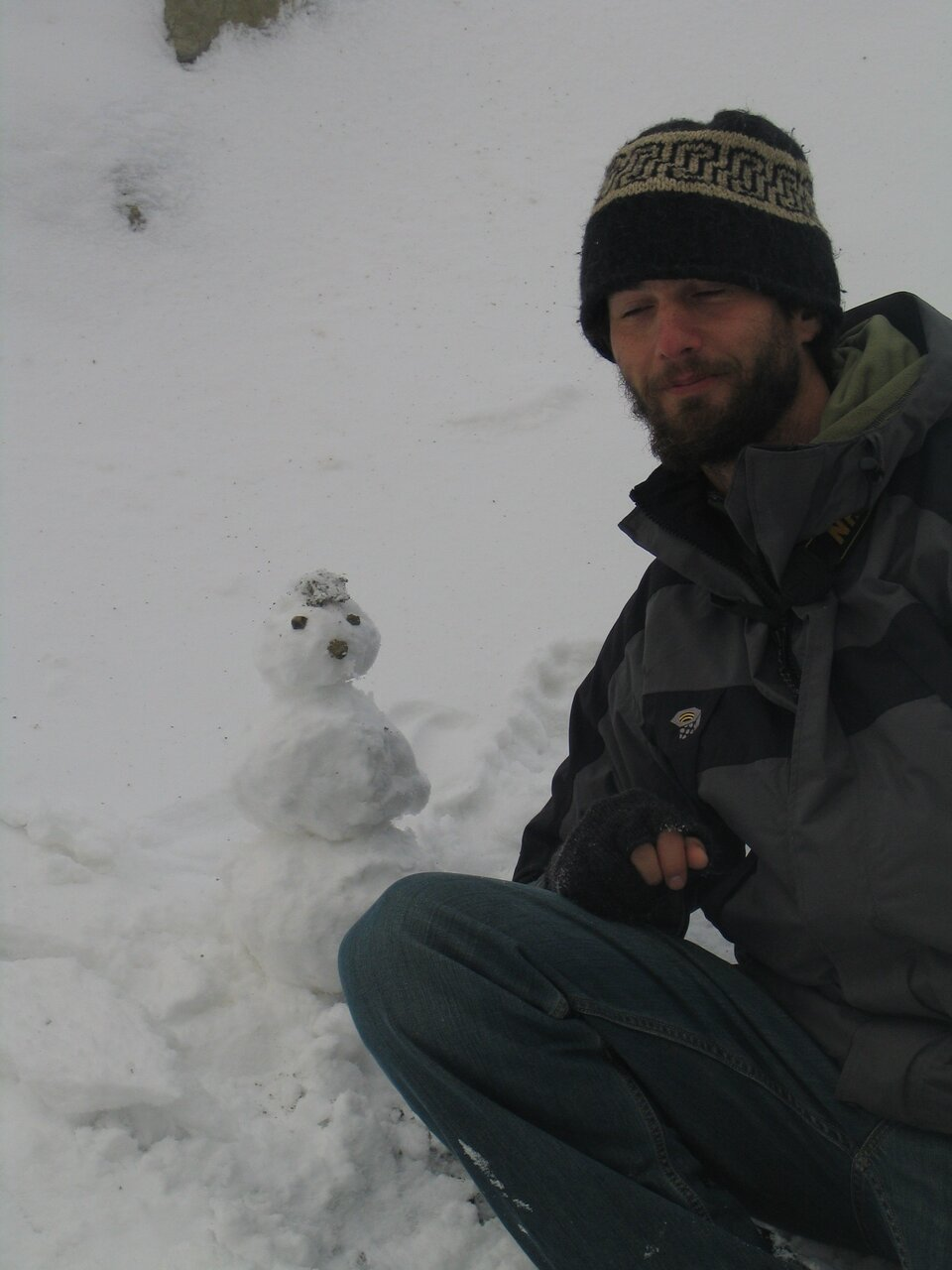 Will together with his snowman