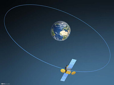 Artist's impression of small geostationary satellite