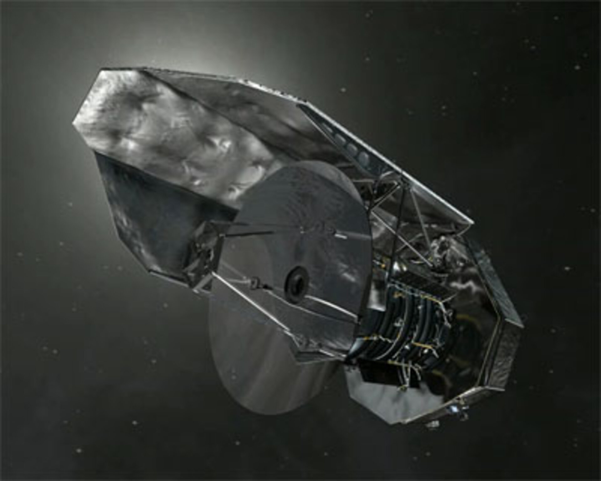 Herschel in space, close up on its mirror
