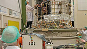 Herschel's cryostat and service module being mated