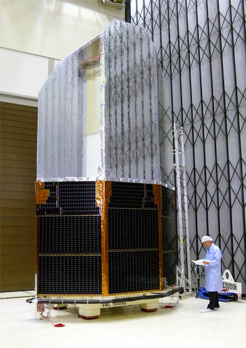 Herschel's solar array and sunshade
