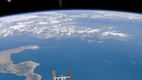 International Space Station (ISS) view from STS-118