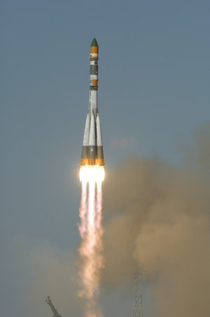 Lift-off of the Foton-M3 spacecraft onboard a Soyuz-U rocket