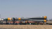 Roll-out of the Soyuz launcher vehicle
