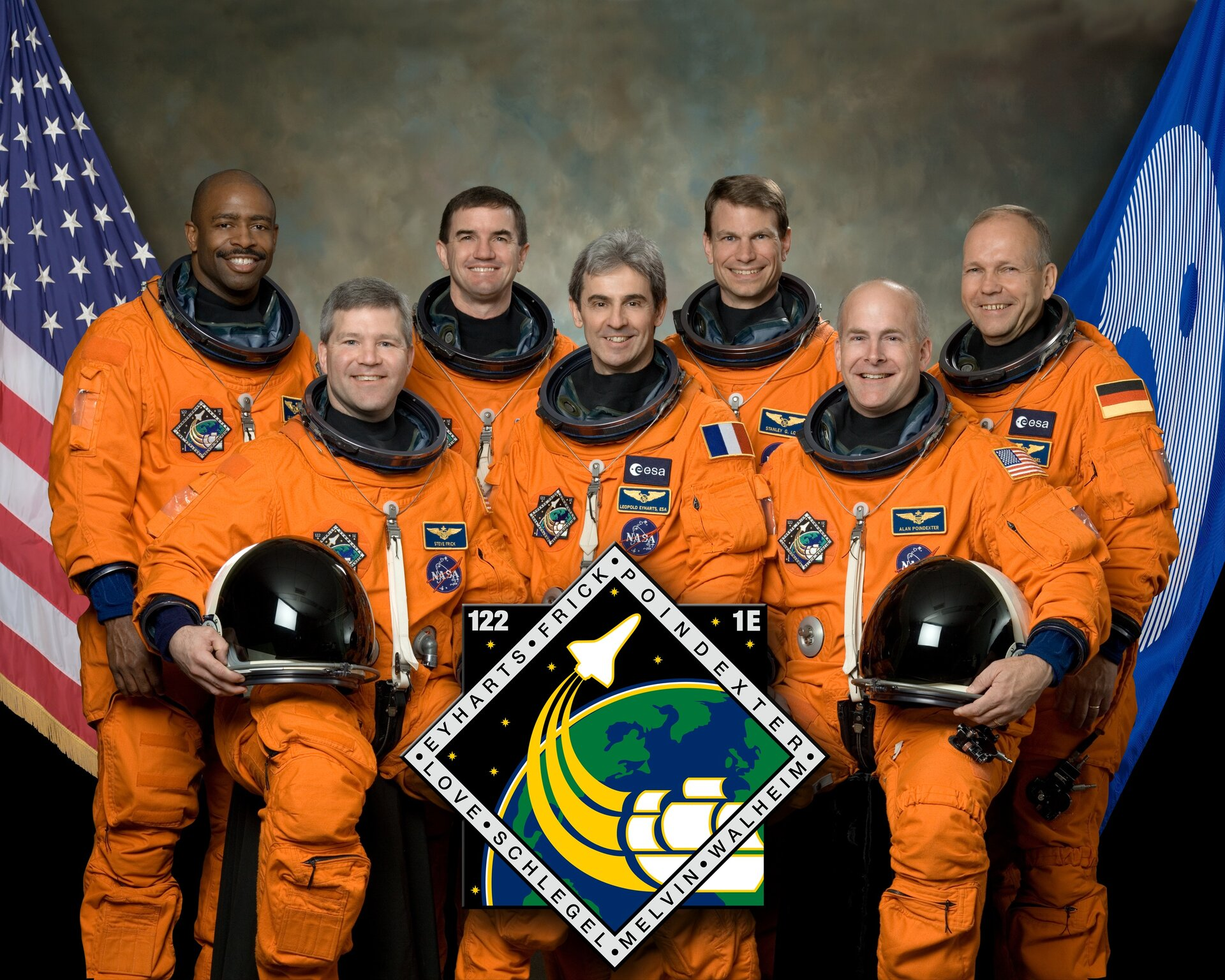 STS-122 crew includes ESA astronauts Schlegel and Eyharts