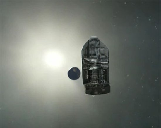 Sun, Earth and the spacecraft are aligned