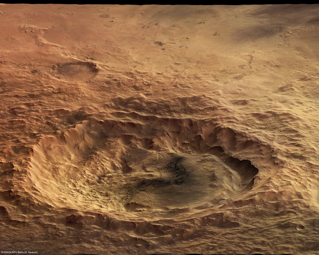 A perspective view of Maunder Crater