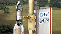 Artist's impression of ESA's ATV on the launch pad