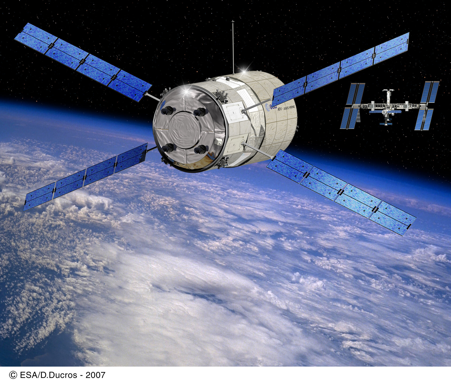 Expedition 16 will support the launch and docking of Jules Verne