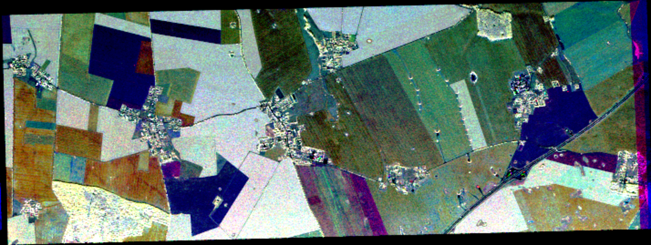 Colour composite of SAR images