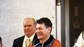 Nespoli during countdown simulation at KSC