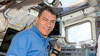 Nespoli inside Space Shuttle