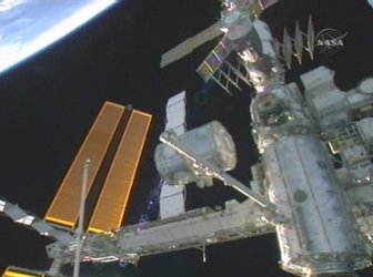 Harmony is moved to its temporary location on Node 1 (lower right corner)