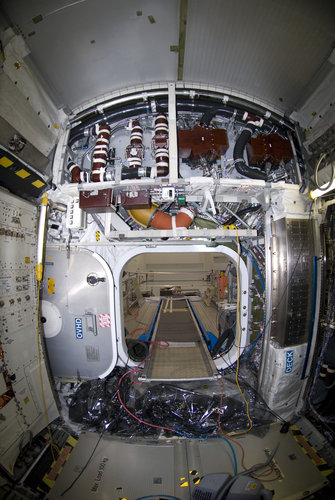 Interior view of the European Columbus laboratory