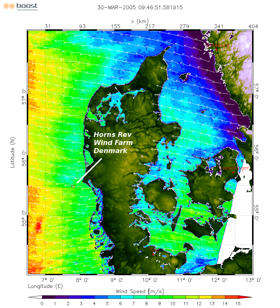 space in images 2007 10 map of wind speed off the coast of