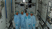 Columbus team inside module