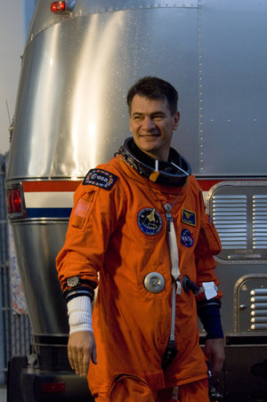 Paolo Nespoli during the STS-120 mission crew walkout