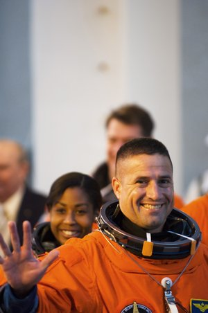 STS-120 Pilot George Zamka during the practice countdown at Kennedy Space Center, Florida