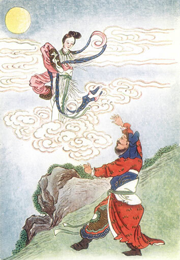 The beautiful Chang'e soars to the Moon