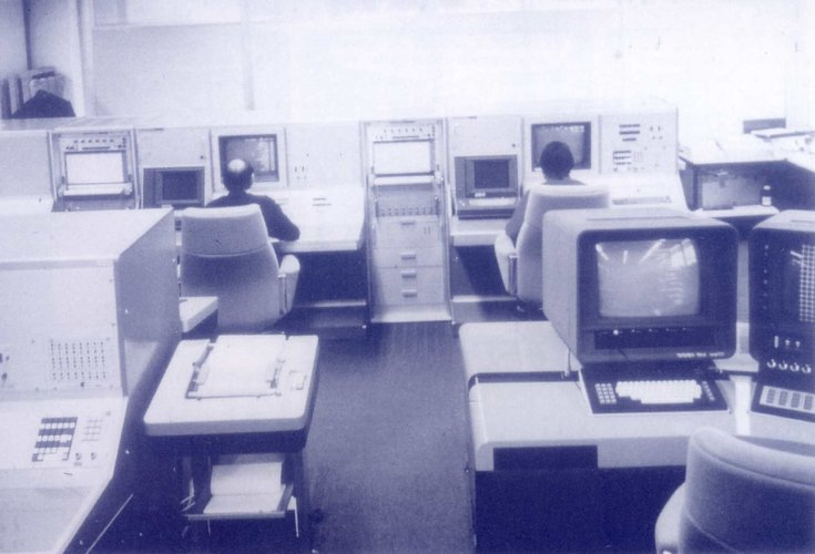 An early view of the Meteosat Operations Control Centre