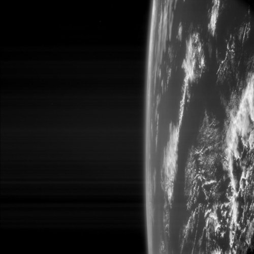 Earth as seen by Rosetta
