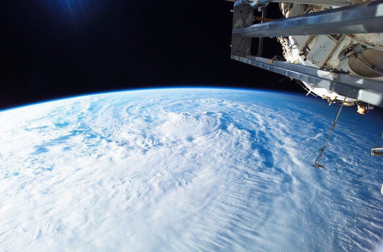 Earth view captured from on board the International Space Station during the STS-120 mission