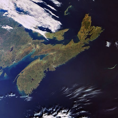 Envisat captures the Canadian province of Nova Scotia