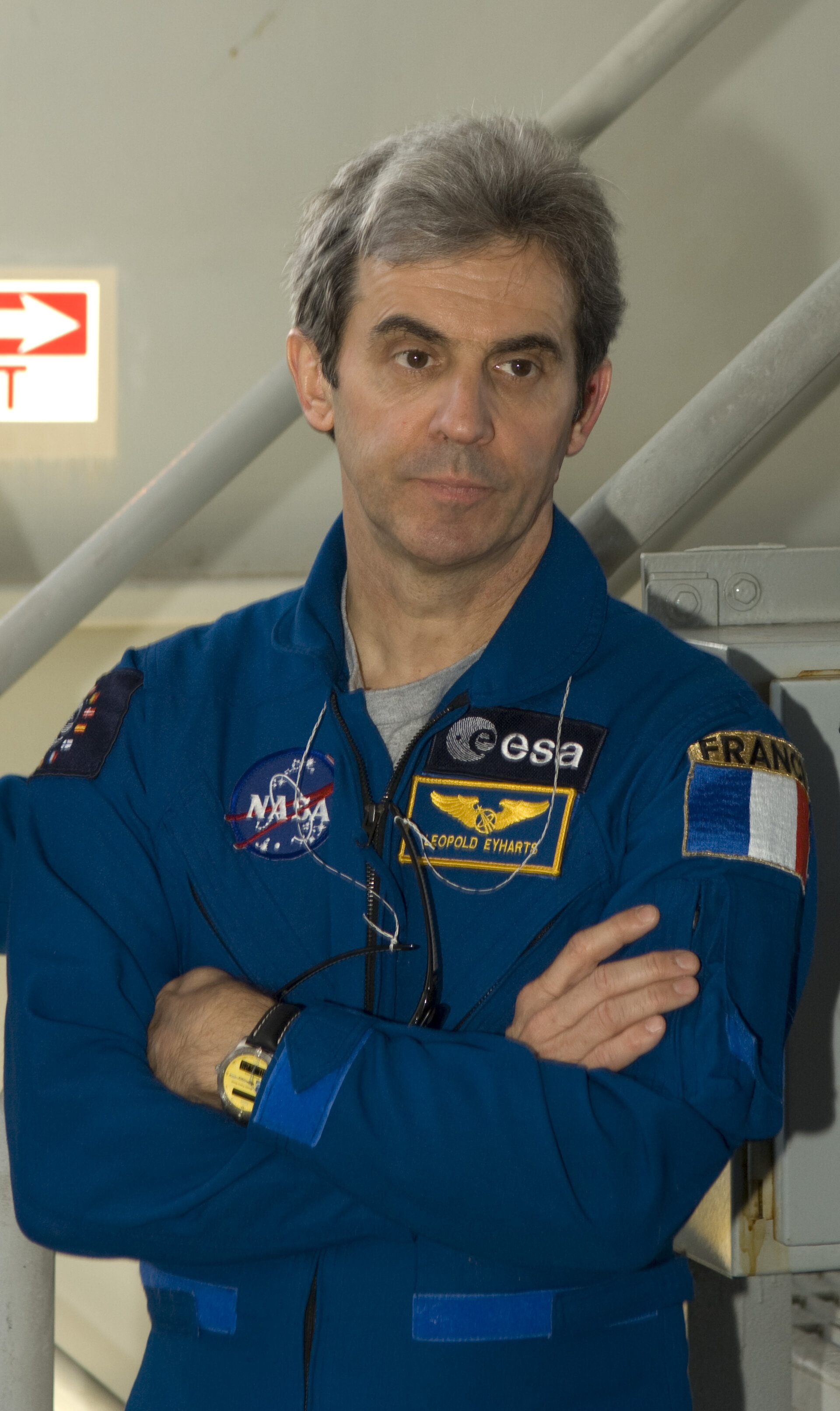 ESA astronaut Léopold Eyharts during final training ahead of the STS-122 mission to deliver the European Columbus laboratory