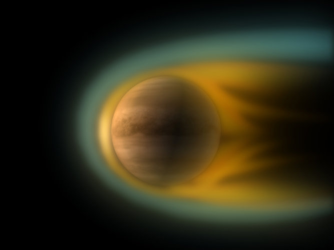 Interaction between Venus and the solar wind