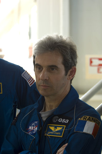 Léopold Eyharts during STS-122 Terminal Countdown Demonstration Test activities at NASA's Kennedy Space Center, Florida